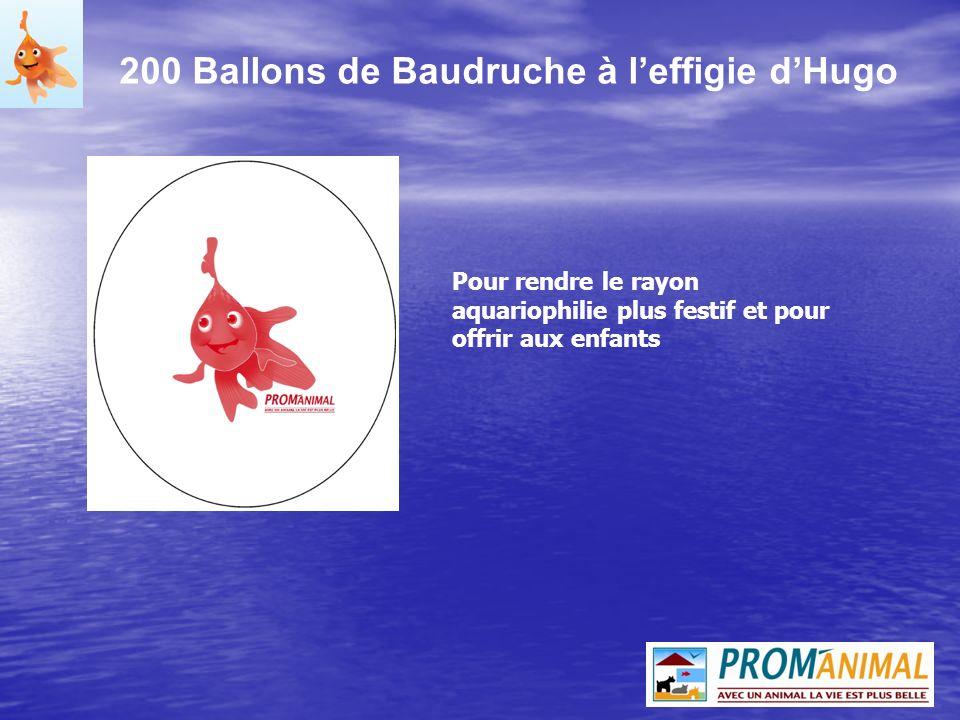 200 Ballons de Baudruche à l'effigie d'Hugo