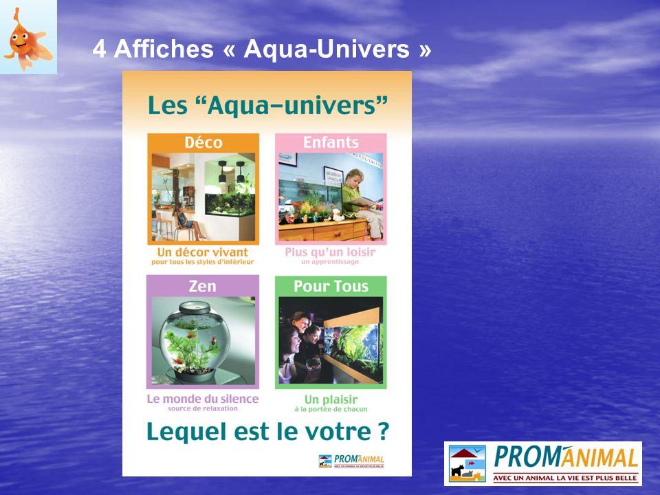 4 Affiches « Aqua-Univers »