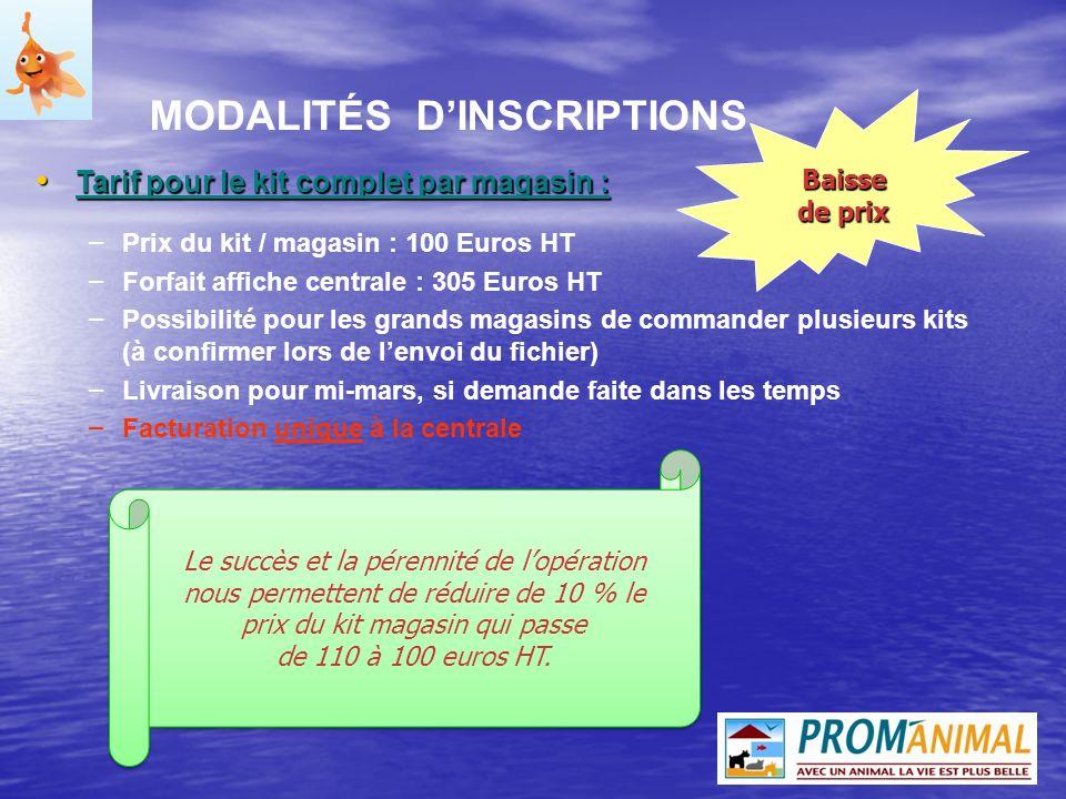 MODALITÉS D'INSCRIPTIONS