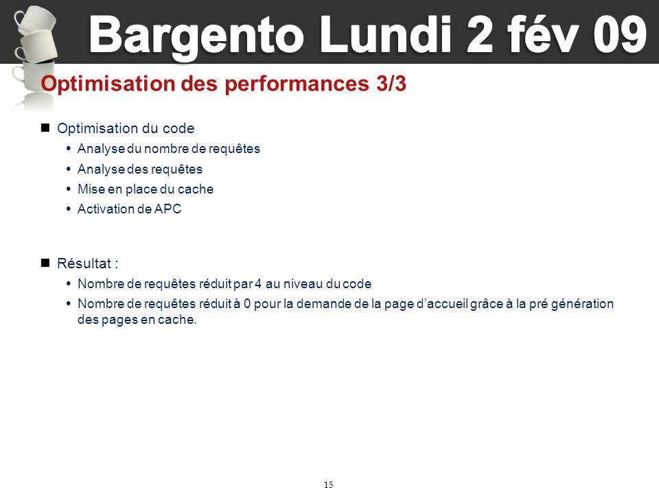 Optimisation des performances 3/3