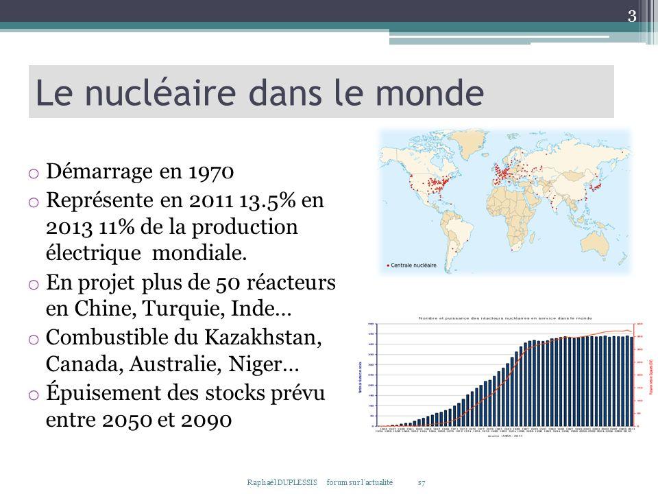 Le nucléaire dans le monde