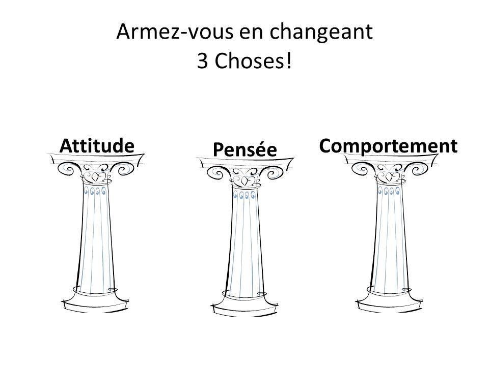 Armez-vous en changeant 3 Choses!