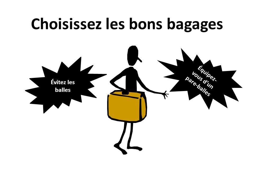 Choisissez les bons bagages