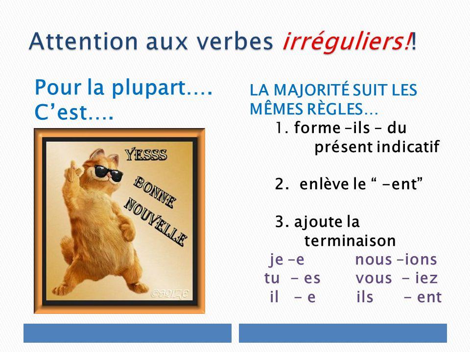 Attention aux verbes irréguliers!!