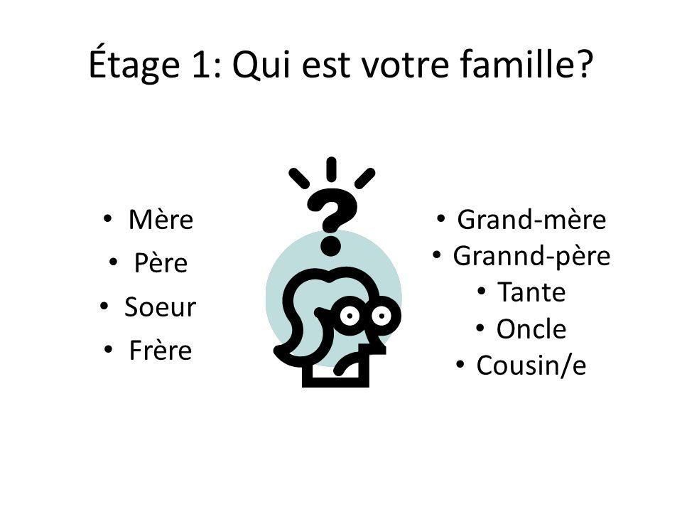 Étage 1: Qui est votre famille
