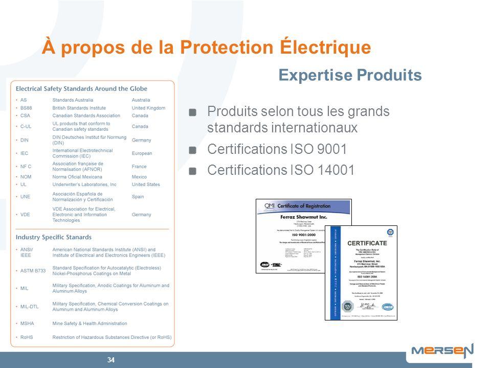 À propos de la Protection Électrique