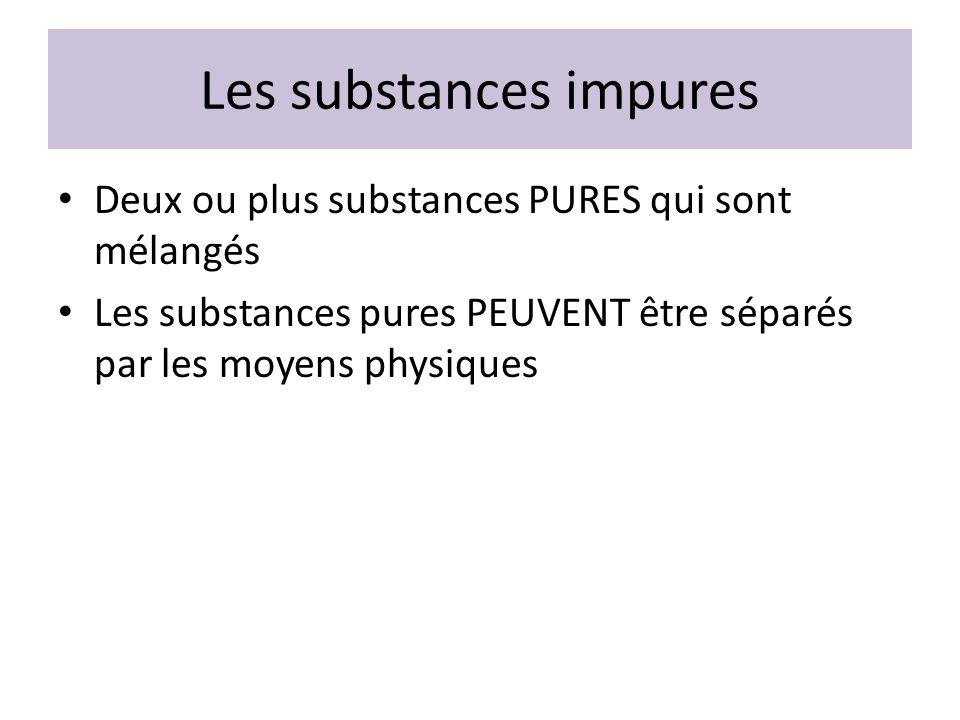 Les substances impures