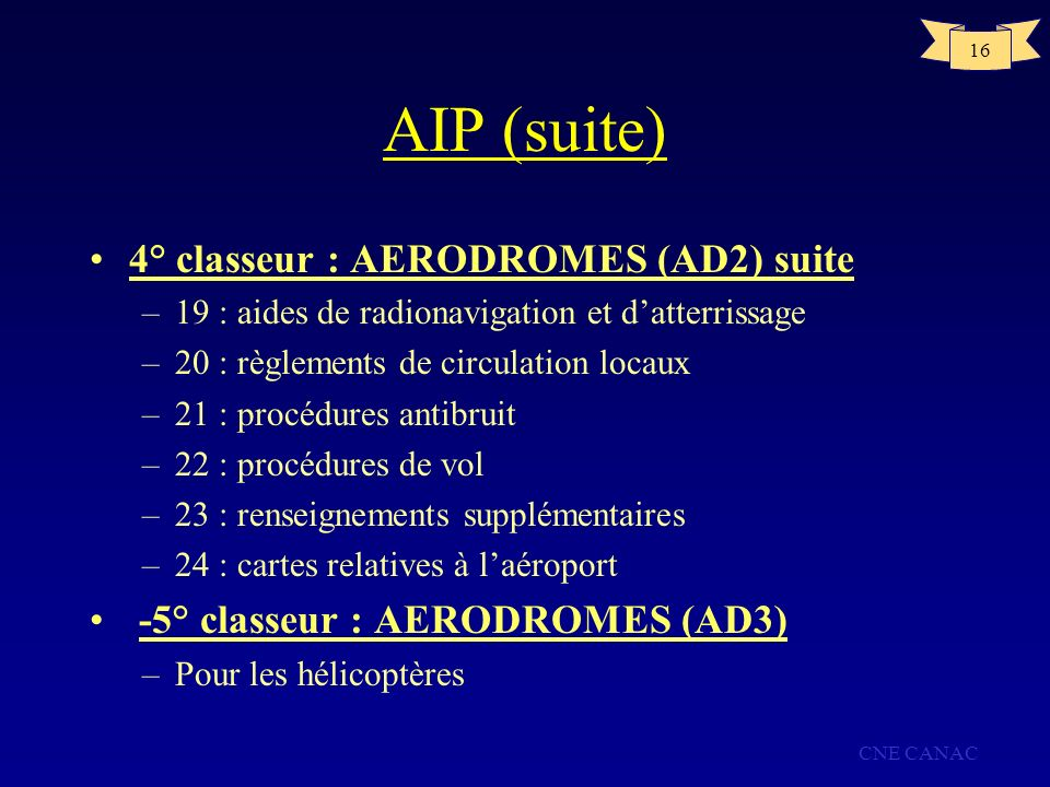 AIP (suite) 4° classeur : AERODROMES (AD2) suite