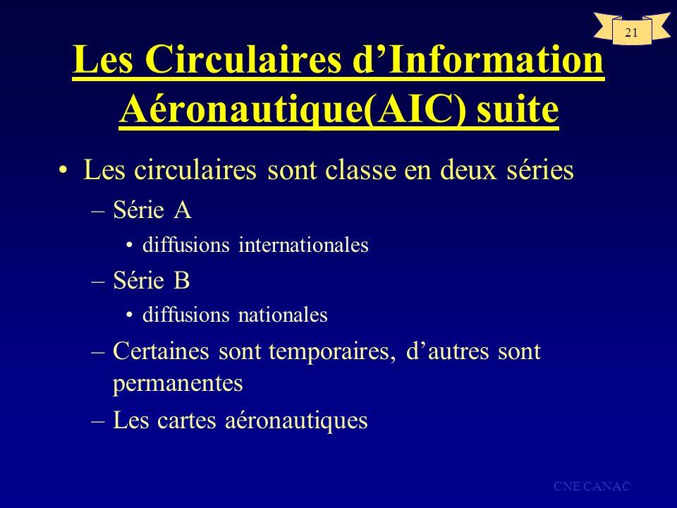 Les Circulaires d'Information Aéronautique(AIC) suite