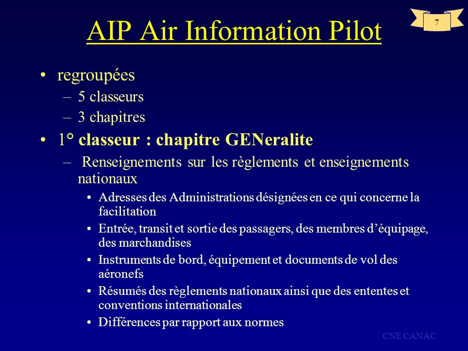 AIP Air Information Pilot