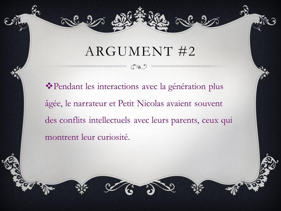 ARGUMENT #2