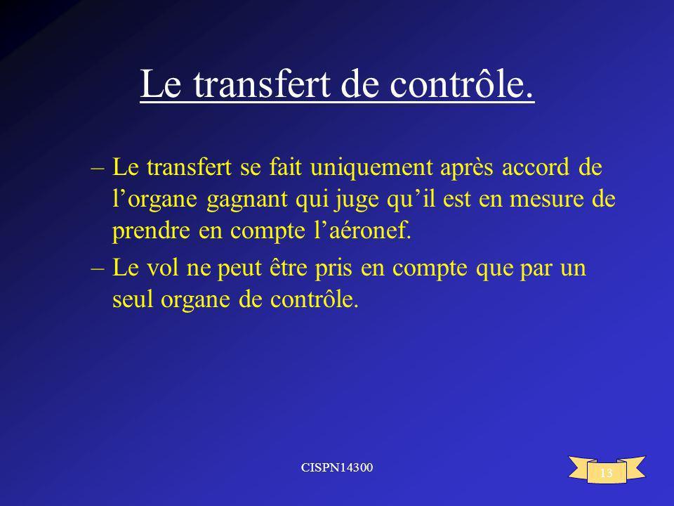 Le transfert de contrôle.