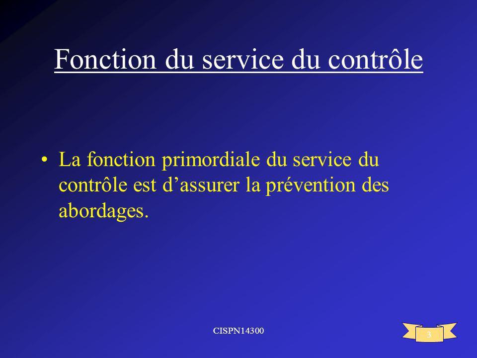 Fonction du service du contrôle