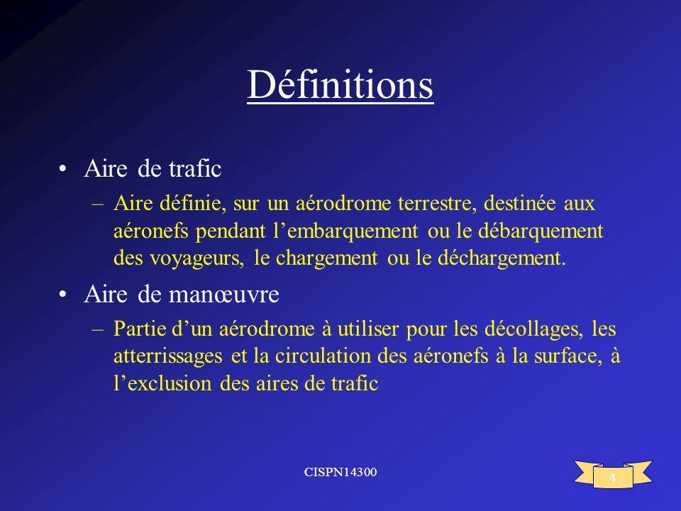 Définitions Aire de trafic Aire de manœuvre