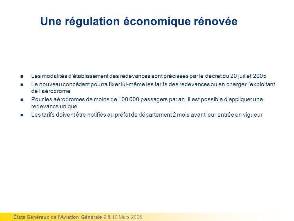 Une régulation économique rénovée