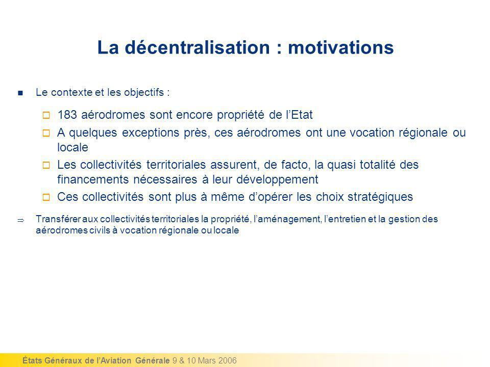 La décentralisation : motivations