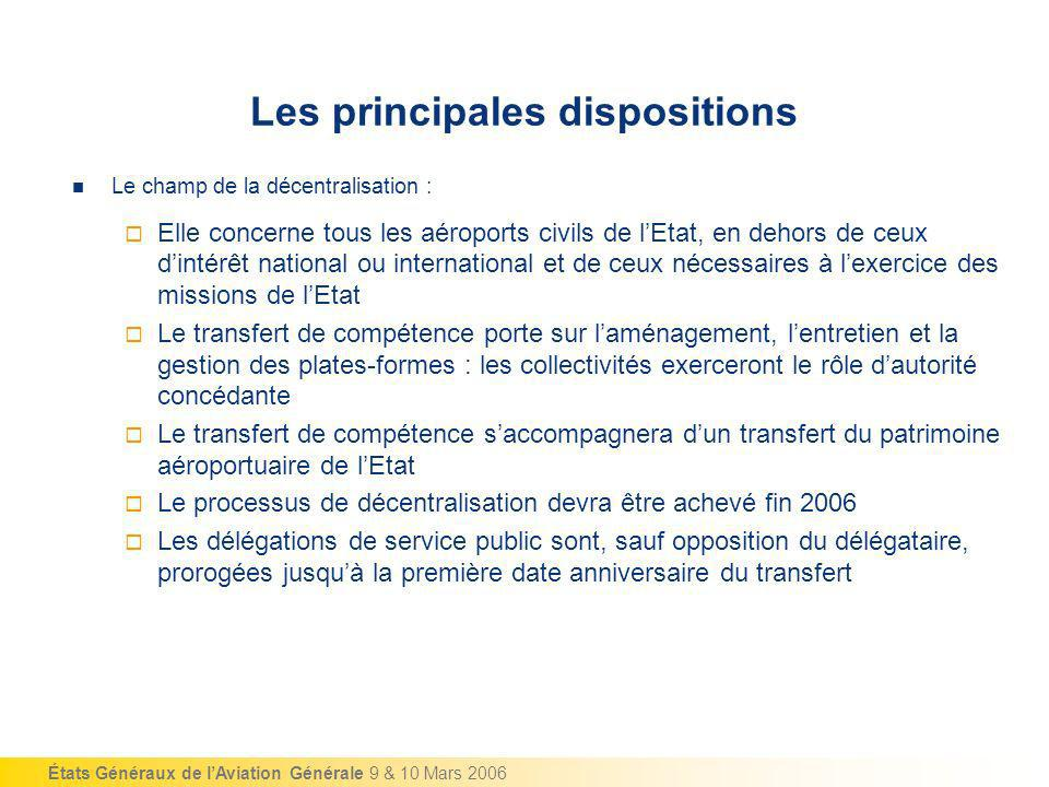 Les principales dispositions
