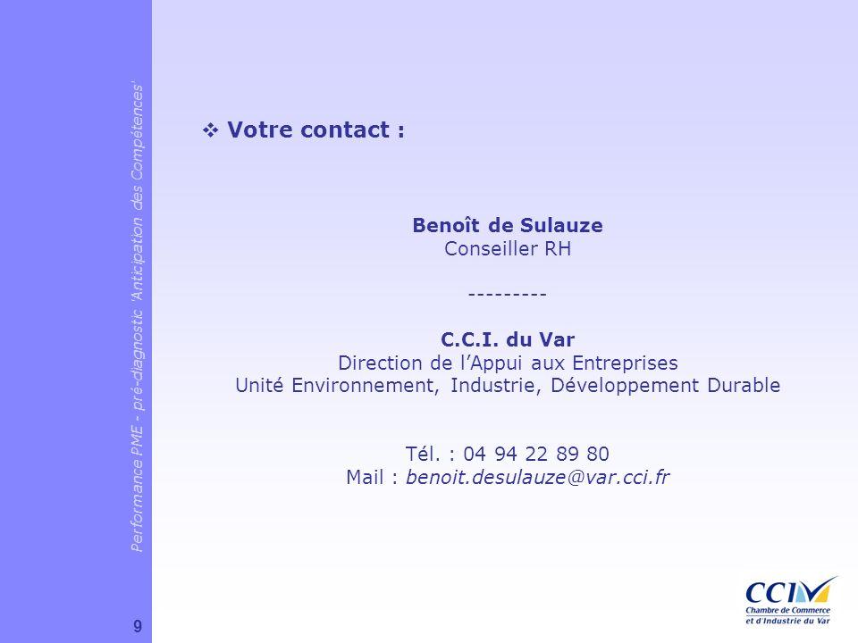 Votre contact : Benoît de Sulauze Conseiller RH ---------
