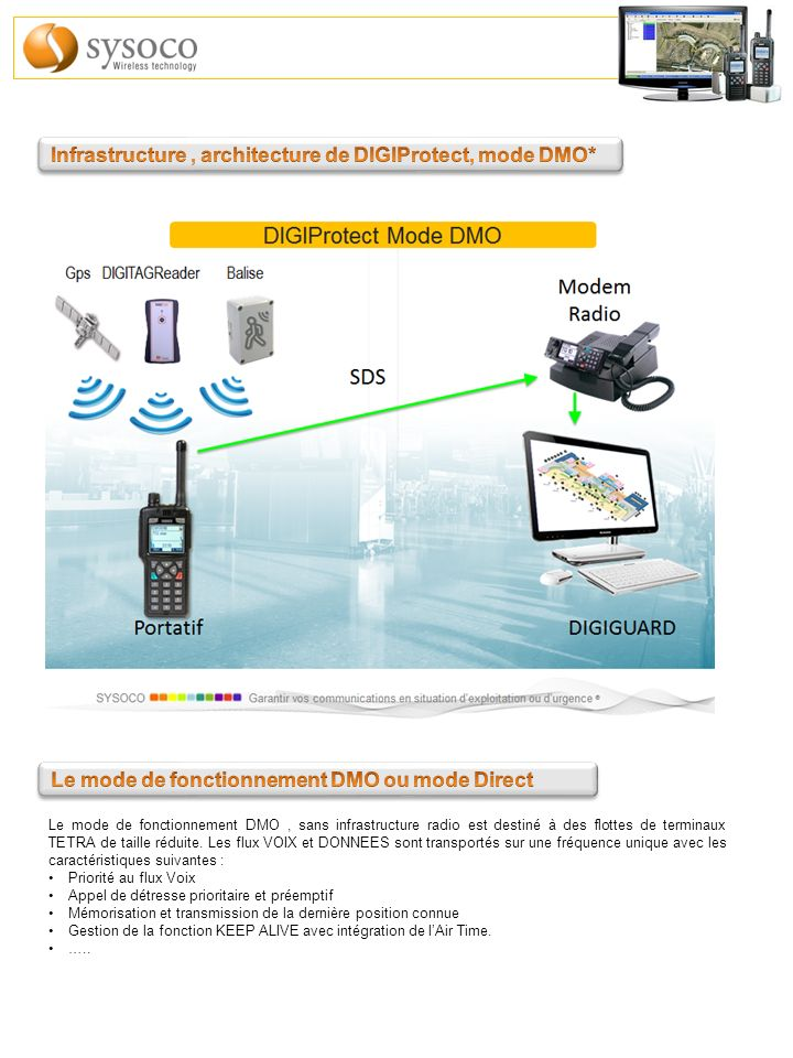 Infrastructure , architecture de DIGIProtect, mode DMO*