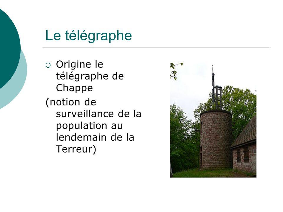 Le télégraphe Origine le télégraphe de Chappe