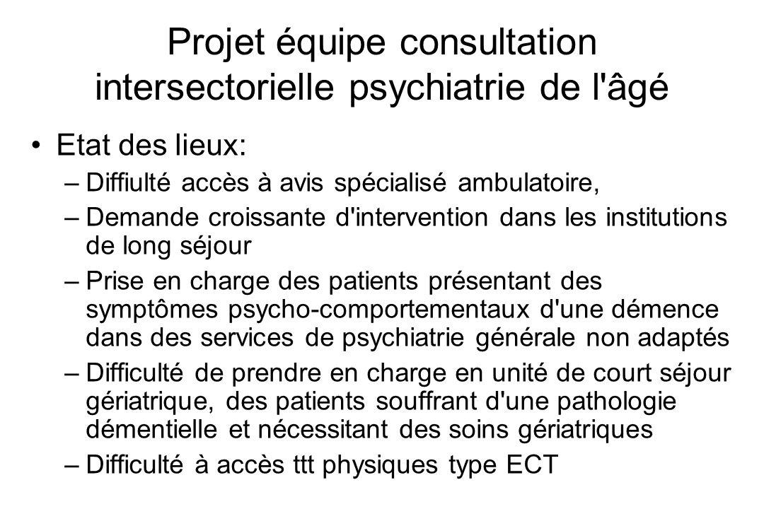 Projet équipe consultation intersectorielle psychiatrie de l âgé
