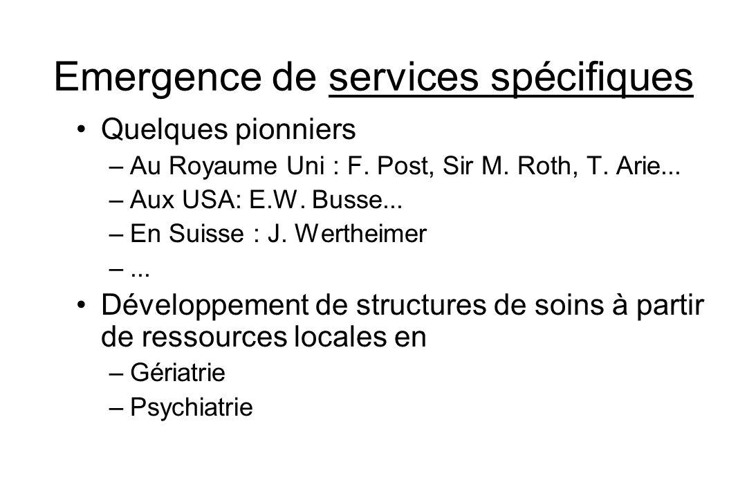 Emergence de services spécifiques