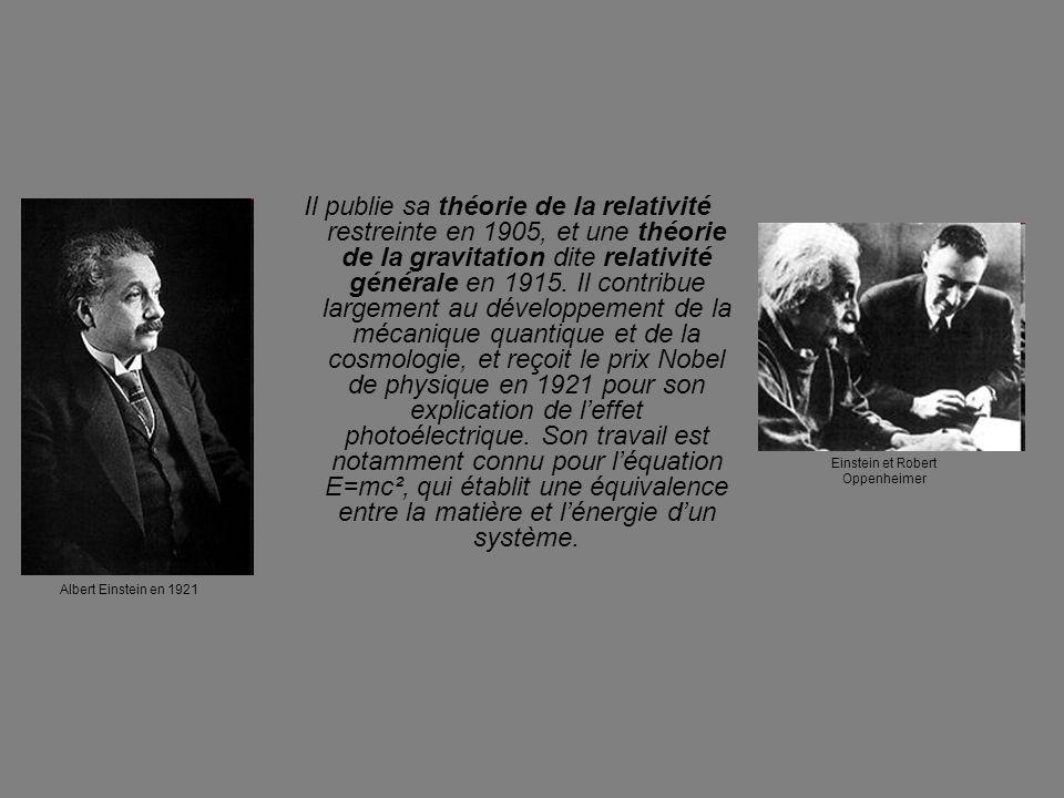 Einstein et Robert Oppenheimer