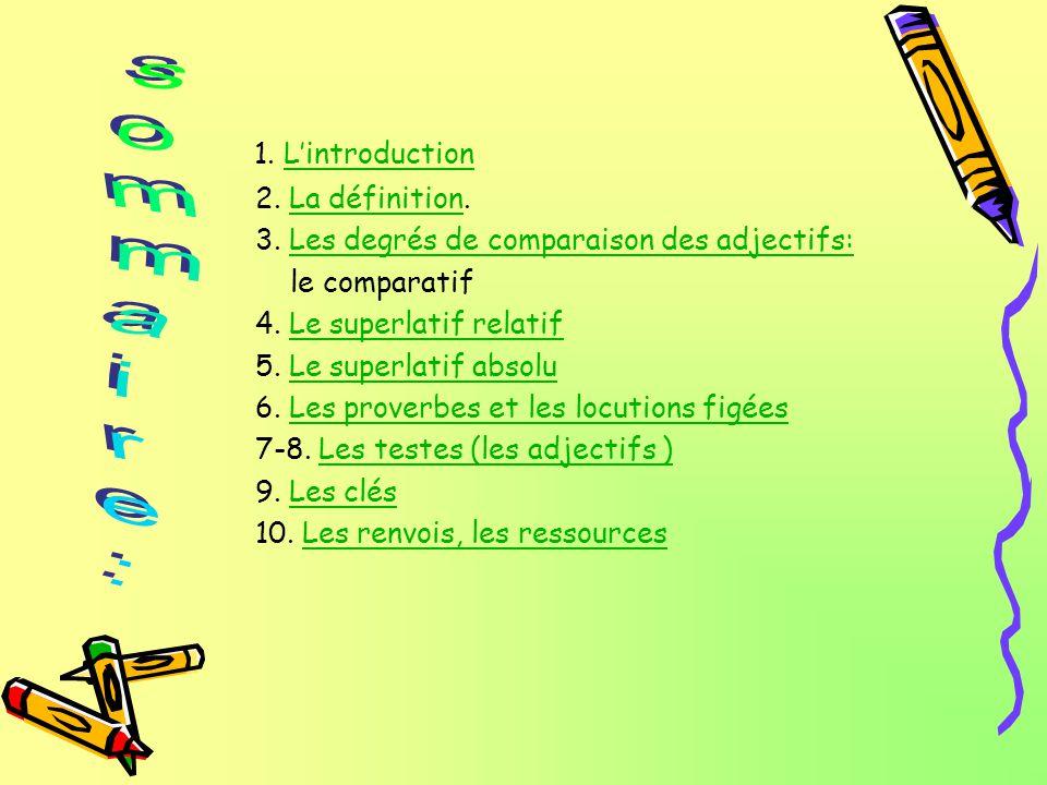 sommaire: 1. L'introduction 2. La définition.