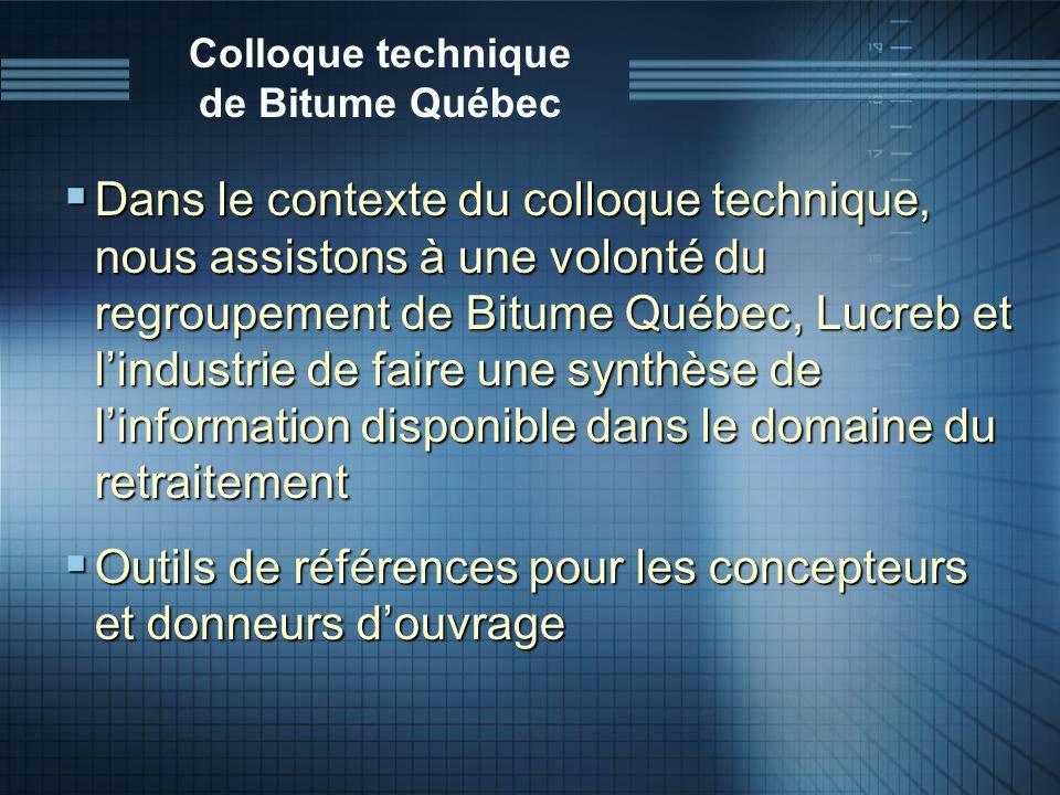 Colloque technique de Bitume Québec