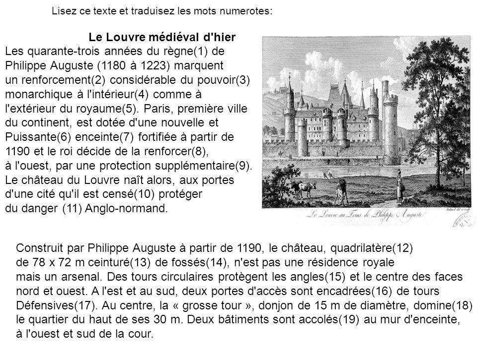 Le Louvre médiéval d hier
