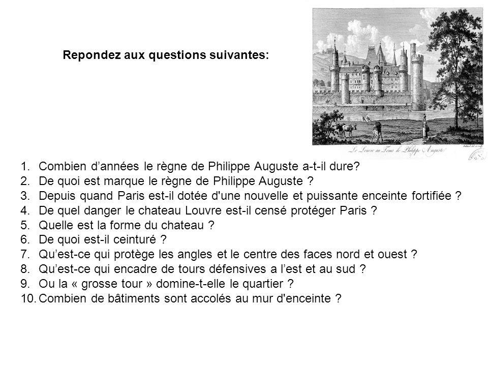 Repondez aux questions suivantes: