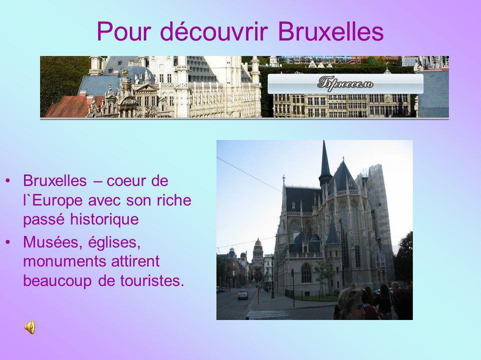 Pour découvrir Bruxelles