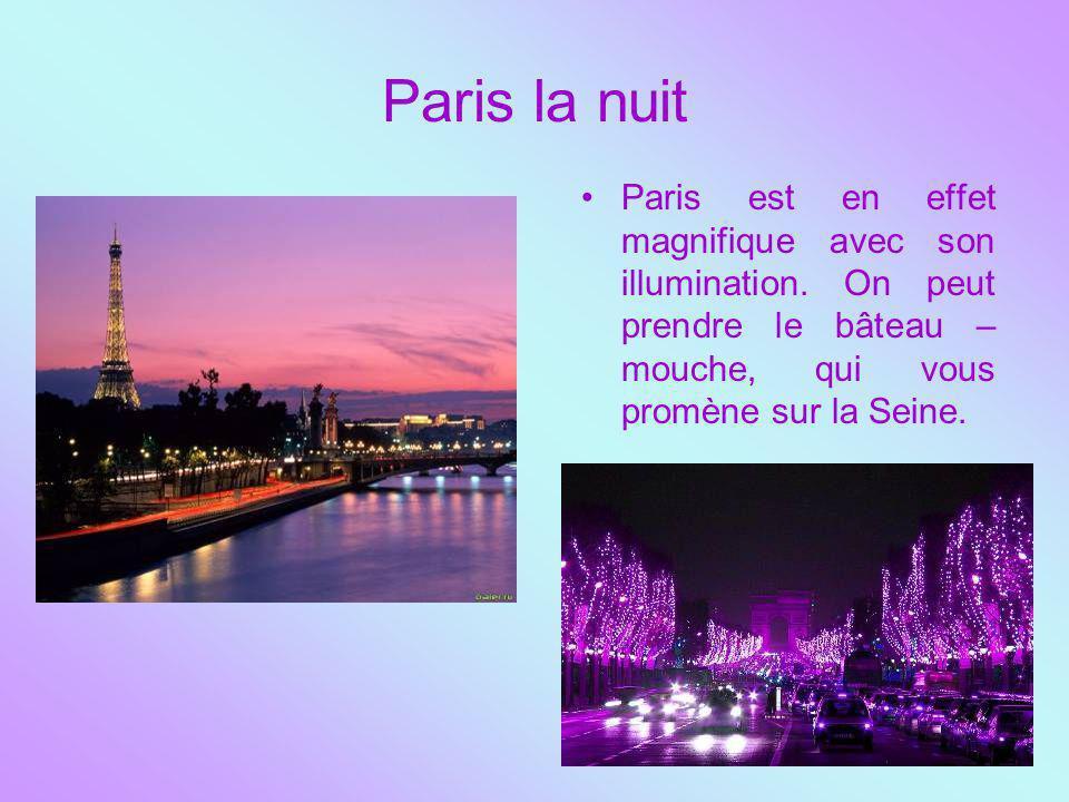Paris la nuit Paris est en effet magnifique avec son illumination.