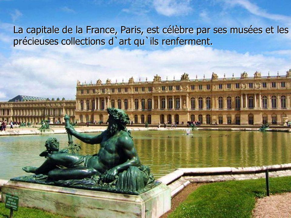 La capitale de la France, Paris, est célèbre par ses musées et les précieuses collections d`art qu`ils renferment.