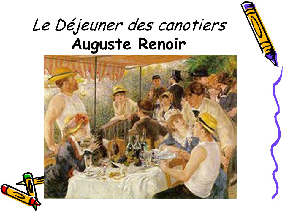 Le Déjeuner des canotiers Auguste Renoir