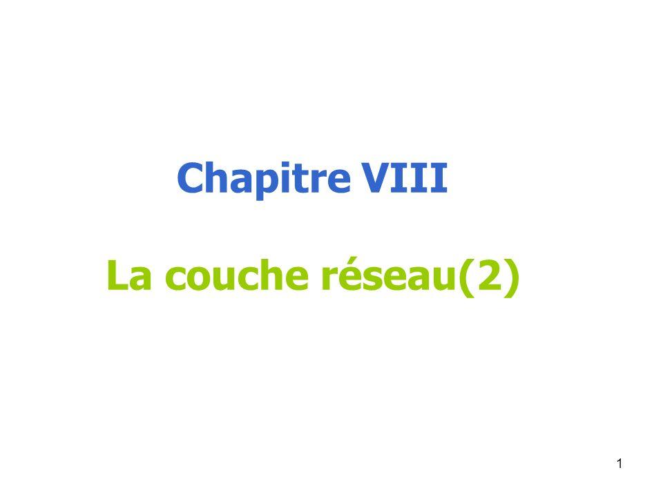 Chapitre VIII La couche réseau(2)