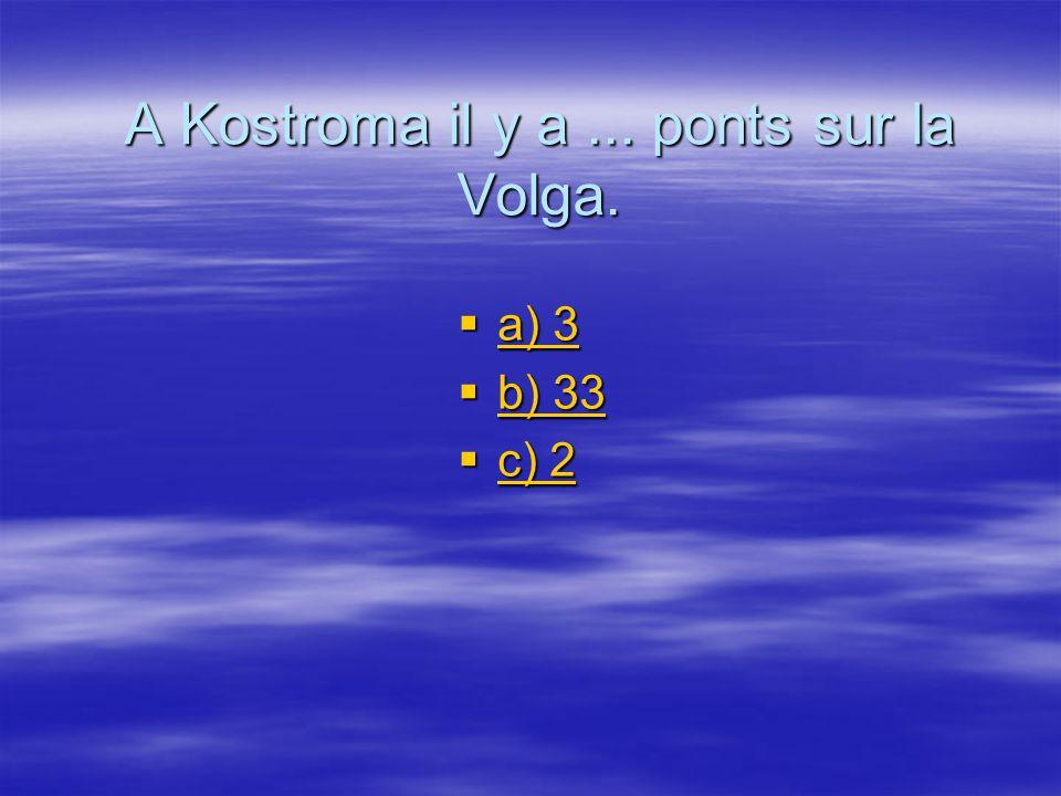 A Kostroma il y a ... ponts sur la Volga.
