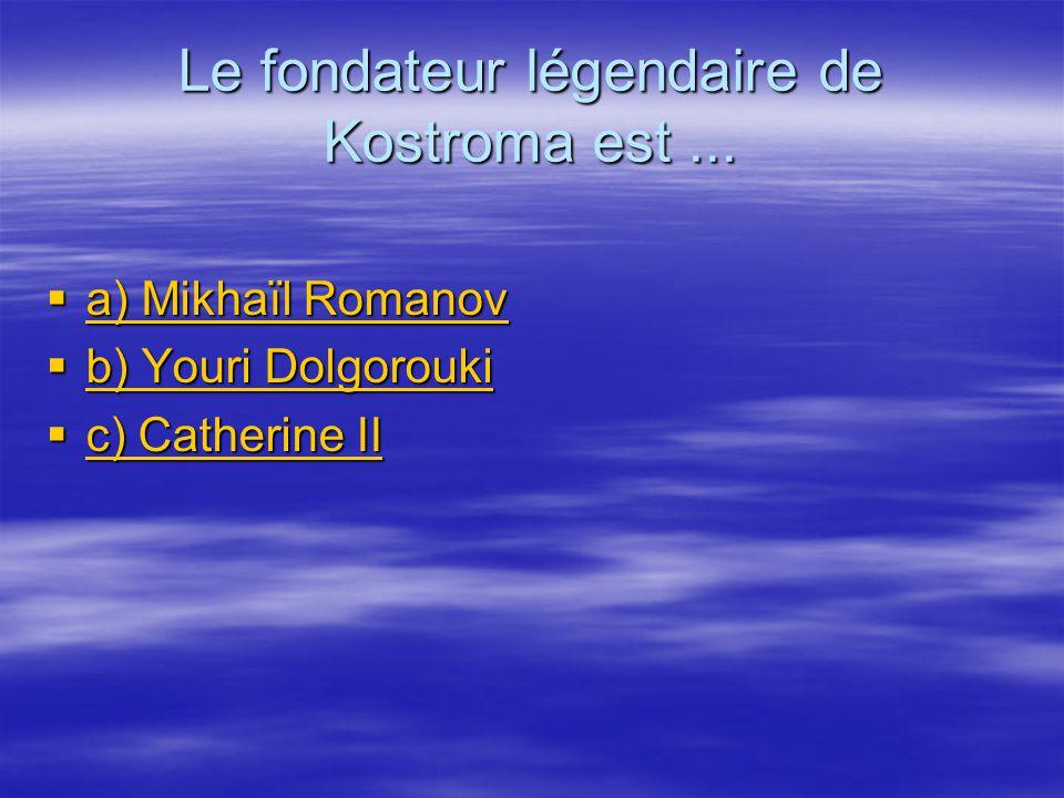 Le fondateur légendaire de Kostroma est ...