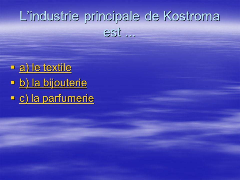 L'industrie principale de Kostroma est ...