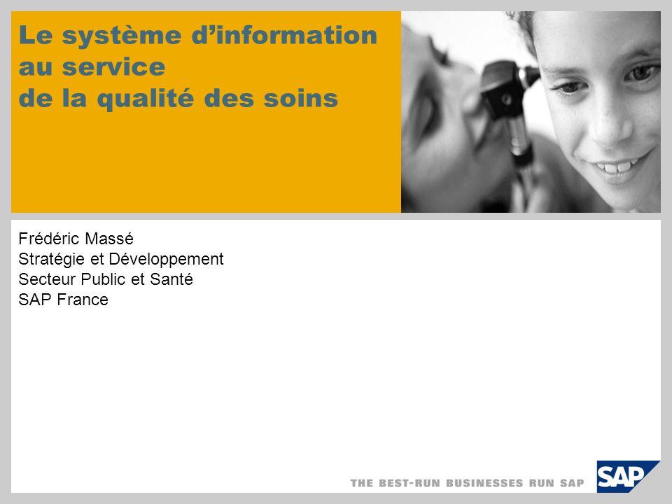Le système d'information au service de la qualité des soins