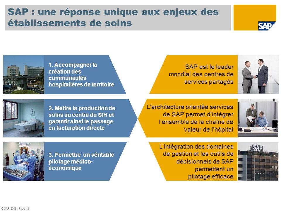 SAP : une réponse unique aux enjeux des établissements de soins