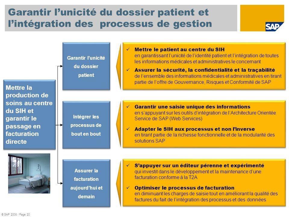 Garantir l'unicité du dossier patient et l'intégration des processus de gestion