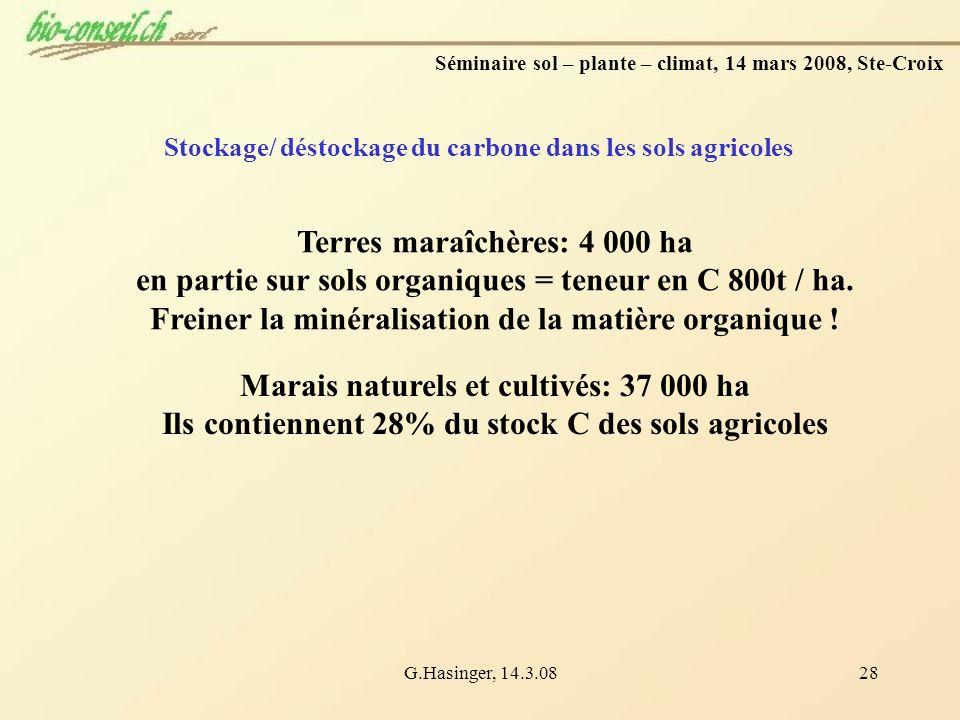 Terres maraîchères: 4 000 ha