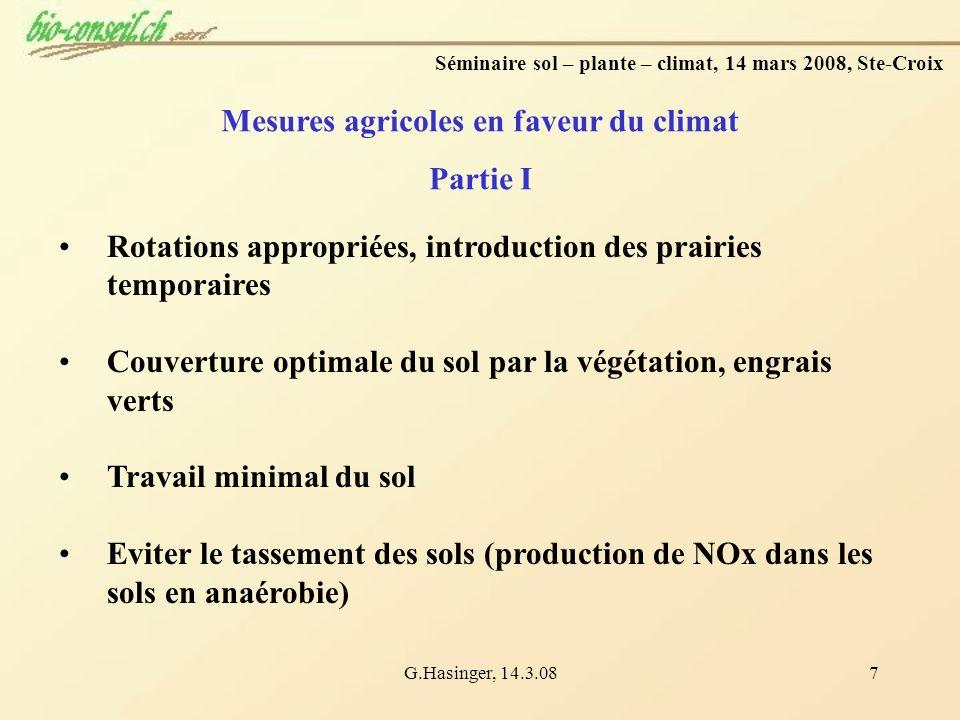 Mesures agricoles en faveur du climat Partie I