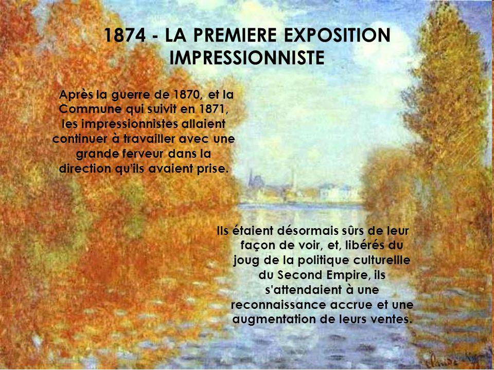1874 - LA PREMIERE EXPOSITION IMPRESSIONNISTE