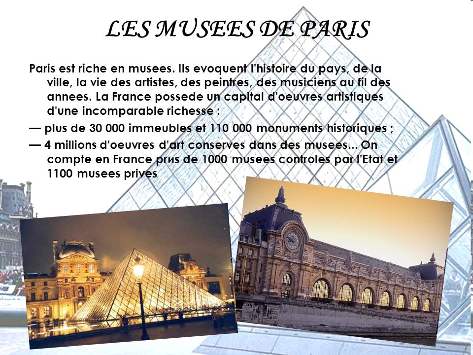 LES MUSEES DE PARIS