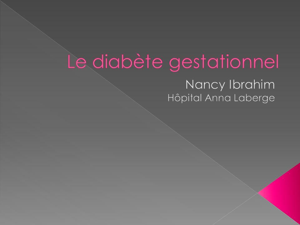 Le diabète gestationnel