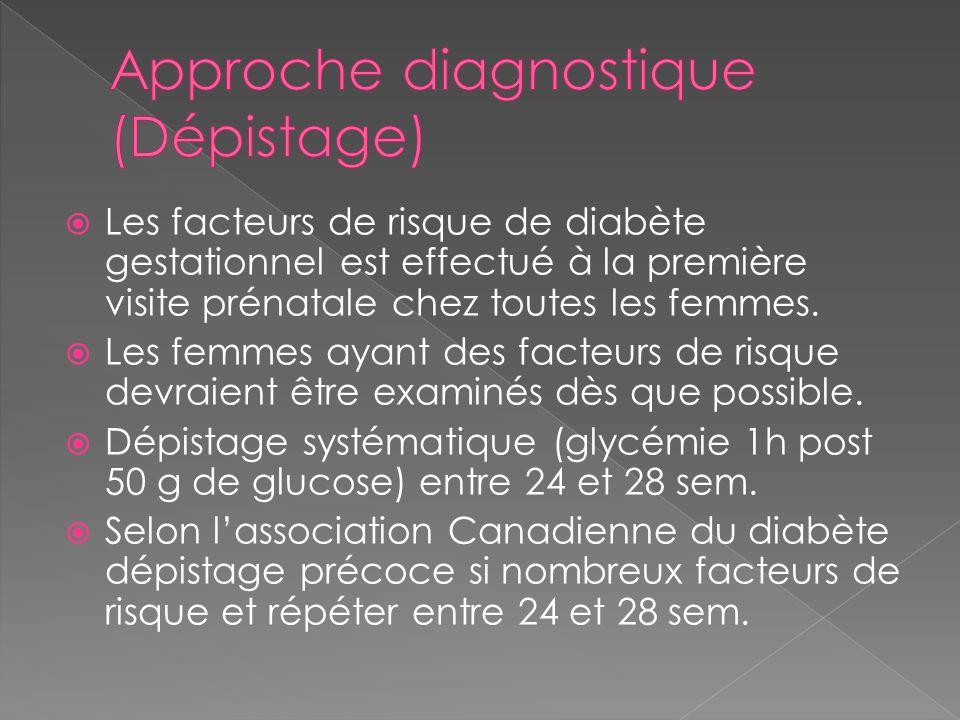 Approche diagnostique (Dépistage)
