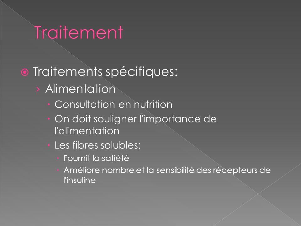 Traitement Traitements spécifiques: Alimentation
