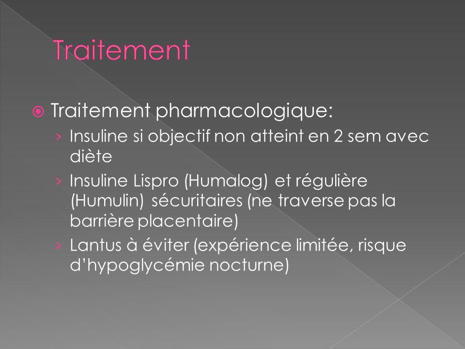 Traitement Traitement pharmacologique: